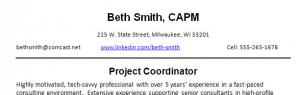 Sample resume header form CareerOneStop's Resume Guide