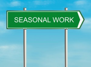 Sign for seasonal work