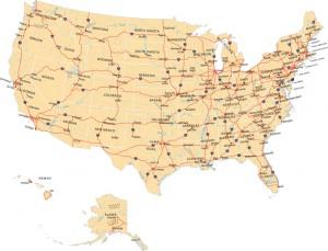 USA Highway Map