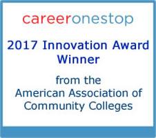 Logo og AACC Innovation Award winner
