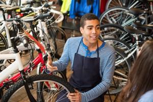 bicycle shop employee