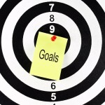 "Target with ""goals"" in center"