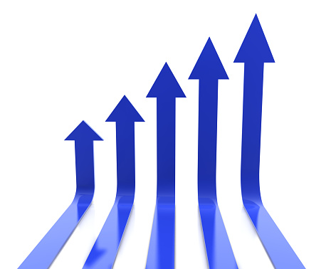 graphic image of upward pointing arrows