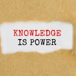 "Logo says ""Knowledge is Power"""