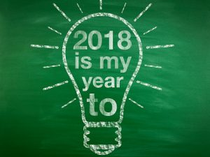 """2018 is my year to"" in lightbulb shape"