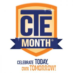 Career and Technical Education month 2018 logo
