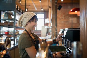 Young woman barista