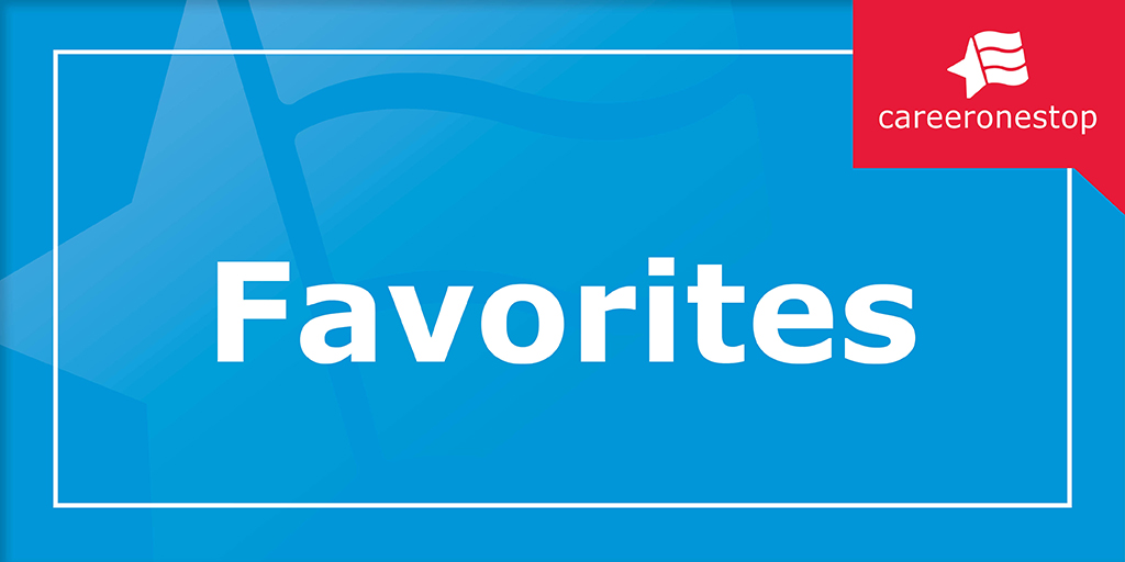 CareerOneStop Favorites