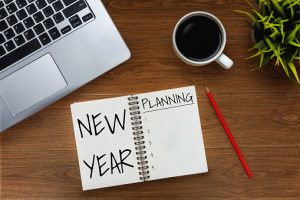 Planner with words New Year Planning