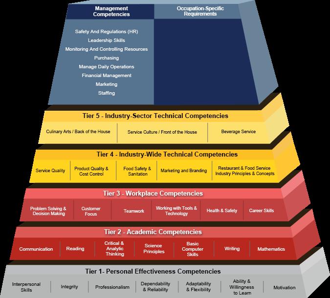 Food and Beverage Service Building Blocks Pyramid