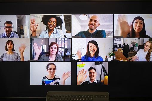 video meeting on desktop