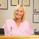receptionist, smiling, portrait